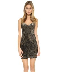 Black Halo - Metallic Judy Mini Dress - Lyst
