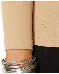 Lauren by Ralph Lauren - Brown Plus Size Long-Sleeve Top - Lyst