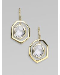 Ippolita | Metallic 18K Gold Framed Drop Earrings | Lyst