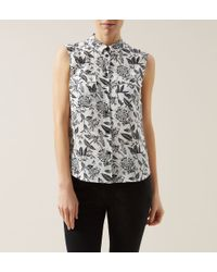 Hobbs - White Perry Silk Top - Lyst