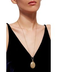 Monica Rich Kosann - Metallic 18k Yellow Gold Bespoke Locket With Diamond Initial - Lyst