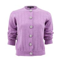 Marc Jacobs | Purple Quarter Sleeve Jewel Button Sweater | Lyst