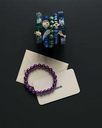 Sydney Evan   Blue Diamond Hamsa Charm Chalcedony Bead Bracelet   Lyst