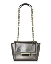 Diane von Furstenberg - Pewter Mini Metallic & Lizard 440 Crossbody - Lyst