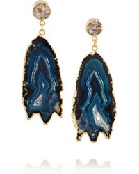 Dara Ettinger | Metallic Aubrey Goldplated Druzy and Geode Earrings | Lyst