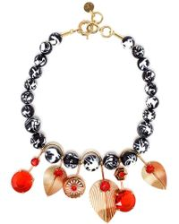 Valentina Brugnatelli - Multicolor Tatiana Swarovksi And Enamel Necklace - Lyst