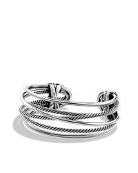 David Yurman | Metallic Crossover Narrow Cuff Bracelet | Lyst