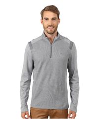 Calvin Klein | Gray Interlock Textured 1/4 Zip Sweatshirt for Men | Lyst