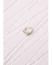 Missguided - Blue Nose Cuff Turquoise Stone - Lyst