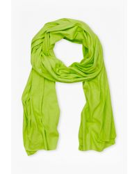 French Connection - Yellow Walter Linen-blend Scarf for Men - Lyst