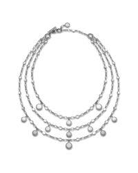 John Hardy - Metallic Triple Row Bib Necklace - Lyst