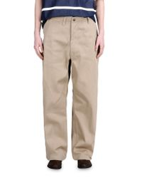 E. Tautz - Natural Casual Trouser for Men - Lyst