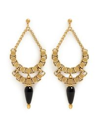 Ela Stone | Metallic Michelle Chain Drop Earrings | Lyst