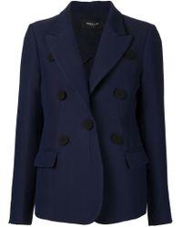 Derek Lam - Blue Button-Detail Wool-Blend Jacket - Lyst