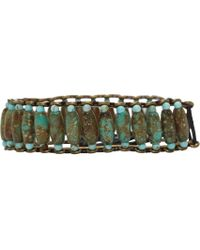 Isabel Marant | Green Pottery Beaded Bracelet | Lyst