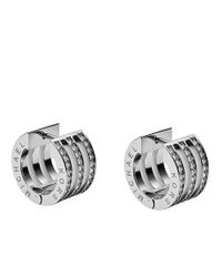 Michael Kors | Metallic Pave Huggie Earrings | Lyst