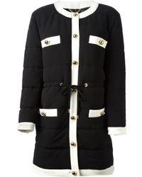 Moschino - Black Padded Coat - Lyst