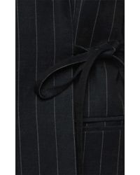Jacquemus - Black Linen Long Self-tie Jacket - Lyst