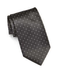 BOSS - Black Geometric Silk Tie for Men - Lyst