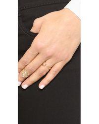 Odette New York - Metallic Split Ridge Ring - Lyst