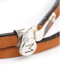 Gilbert Gilbert | Natural Camel-coloured Leather M Clasp Bracelet Menlook 5-year Exclusive for Men | Lyst