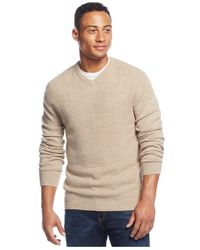 Weatherproof | Natural Vintage Textured V-neck Sweater for Men | Lyst