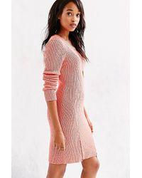 StyleStalker - Orange Thursday Zip-Hem Sweater Dress - Lyst