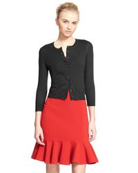 Michael Kors | Black Featherweight Cashmere Cardigan | Lyst
