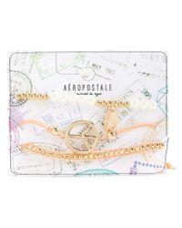 Aéropostale | Metallic Peace Leaf Bracelet 3-pack | Lyst