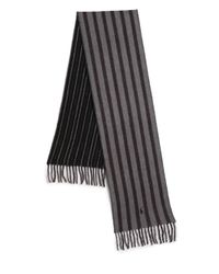 Polo Ralph Lauren - Gray Double-faced Striped Scarf for Men - Lyst