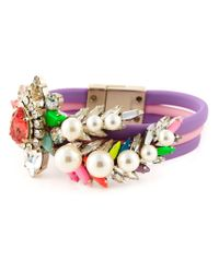 Shourouk - Purple 'tube Aigrette' Bracelet - Lyst