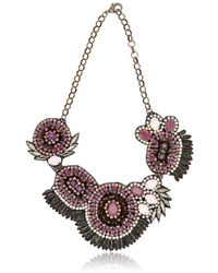 Deepa Gurnani - Metallic Mergers And Acquisitions Necklace - Lyst