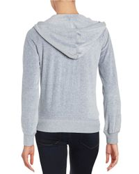 MICHAEL Michael Kors | Gray Petite Velour Zip-up Hoodie | Lyst