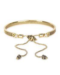 Eddie Borgo | Metallic Gold Plated Pavé Crystal Bracelet | Lyst