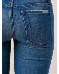 Joe's Jeans - Blue Low Rise Skinny Jeans - Lyst