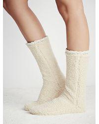 Free People | White Lemons Womens Lodge Slipper Sock | Lyst
