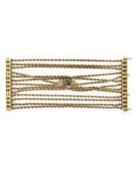 Lanvin - Metallic Braided Bracelet - Lyst