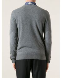 Paul & Joe - Gray V-neck Sweater for Men - Lyst