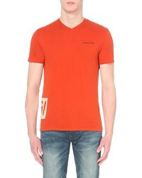 Armani Jeans - Orange 1981 Cotton-jersey T-shirt for Men - Lyst