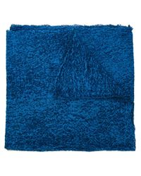 Faliero Sarti - Blue Textured Scarf - Lyst