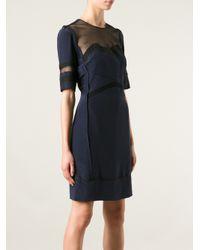 Victoria, Victoria Beckham - Blue Tulle Insert Dress - Lyst