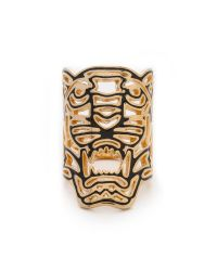 KENZO - Metallic Oversized Tiger Ring - Gold - Lyst