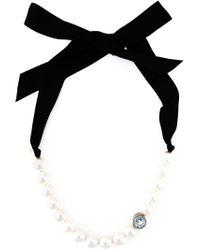 Lanvin | Black Pearl Choker Necklace | Lyst