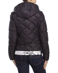 Betsey Johnson | Black Printed Puffer Jacket | Lyst