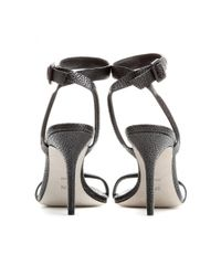 Alexander Wang | Black Antonia Textured-Leather Sandals | Lyst