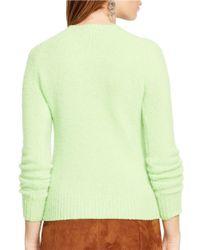 Polo Ralph Lauren - Green Wool Crewneck Sweater - Lyst