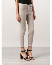J Brand - Natural 8020 Anja Slim Cropped Mid-Rise Jeans - Lyst