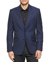 Calvin Klein | Blue Solid Blazer for Men | Lyst