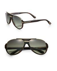 Tom Ford | Brown Dmitry Aviator Sunglasses for Men | Lyst