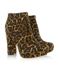 MICHAEL Michael Kors - Multicolor Lesly Leopardprint Calf Hair Ankle Boots - Lyst